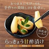らっきょう甘酢漬け 国産 無添加 浜松産 120g 4袋入 (1セット) 100%種子島の茶色の粗糖