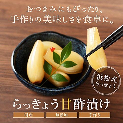 らっきょう甘酢漬け 国産 無添加 浜松産 120g 10袋入 手作り 代引き不可 100%種子島の茶色の粗糖