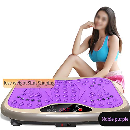 Smart trilplaat, high-performance Exercise Machine, Intelligent Mute acupressuurmassage trilplaat, Body Shaping Body geschikt voor familie,Purple