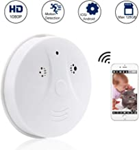 Hidden Spy Camera WiFi TANGMI 1080P HD Wireless Smoke Detector Security Camera Motion Dection Nanny Cam