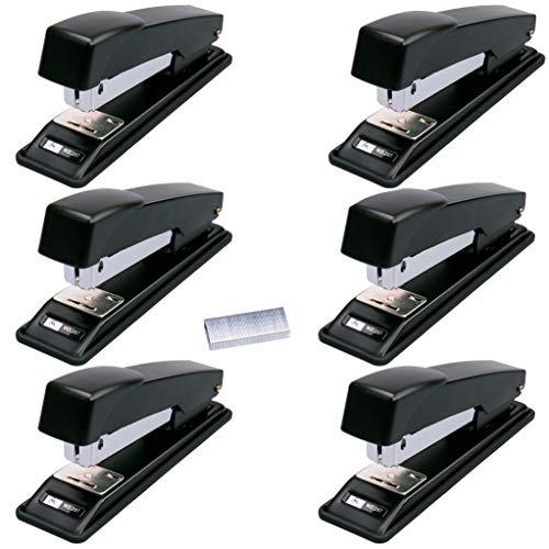 Stapler, Ezire 6 Staplers with 12000 Staples,20 Sheets Capacity, Black (Black-6pack)