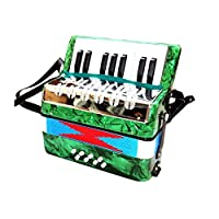 子供のアコーディオンズ男の子アコーディオンアコーディオンアコーディオン玩具17キー幼児期開発ミュージックコレクション6歳の幼年期開発アコーディオン Jialele (Color : Green, Size : 24x12x24cm)