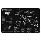 TekMat Tapis pour Le Nettoyage avec Eclaté Glock 3D - 43x28cm