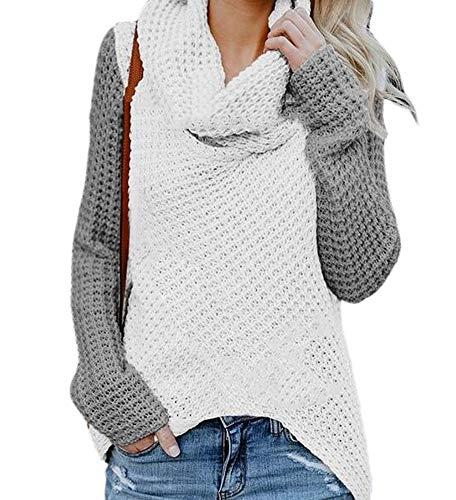 Babao dames losse pullover sweater rolkraag gebreide trui