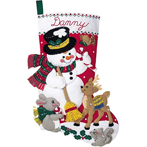 Bucilla Snowman And Friends Felt Applique Kit