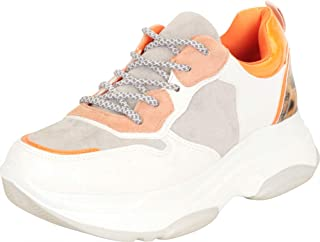 Cambridge Select Women's Retro 90s Ugly Dad Colorblock Lace-Up Chunky Platform Fashion Sneaker