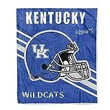Flannel Throw Blanket University Logo Print Warm Blankets Super Soft 50'' × 60'' (Kentucky Wildcats)