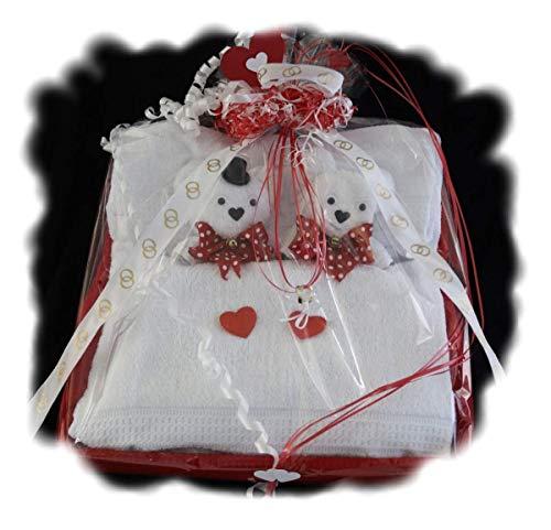 handgemachte Frotteebox als Geschenk Set zur Hochzeit