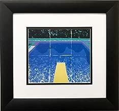 David Hockney Day Pool with 3 Blues Newly Custom Framed Art Print Framed Size Approx. 13.5