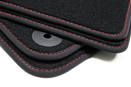 tuning-art 156R-R1N-FBA Exclusive Alfombrillas de Coche y Costuras Decorativas