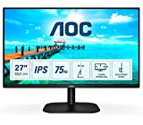 AOC Monitor 27B2DA- 27' Full HD, 75Hz, IPS, Adaptive Sync, 1920x1080, 250 cd/m, D-SUB, DVI, HDMI