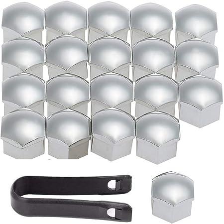 Shoze 20x Kappen Set 17mm Radmuttern Radschrauben Für Radbolzen Kappen Radmuttern Radschraubenkappen Küche Haushalt
