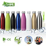 king do way Insulated Stainless Steel Water Vacuum Bottle Flask Double-Walled with a