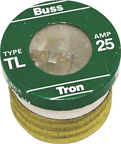 Bussmann TL-25 Low Voltage Medium Duty Time Delay Plug Fuse, 125 Vac, 25 A, 10 Ka