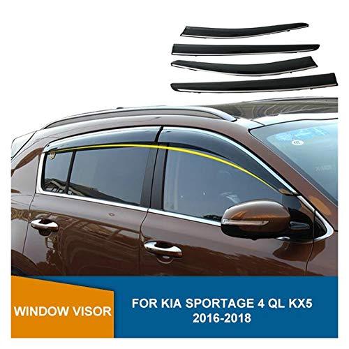 QUXING Derivabrisas para Kia Sportage 4 Ql Kx5 Sportage-R 2016 2017 2018 Deflector De Ventana Lateral De Humo Protector De La Lluvia del Sol Derivabrisas Deflectores