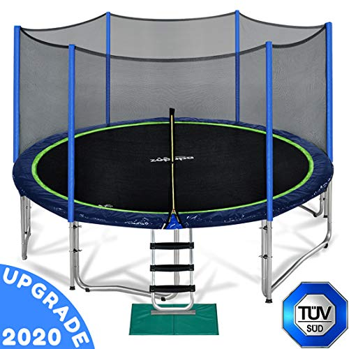Zupapa 10 FT Trampoline for Kids with Safety Enclosure Net 330 lbs...