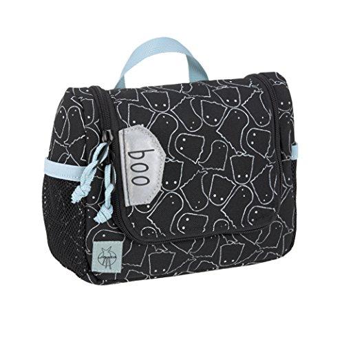 LÄSSIG Kulturtasche mit Namensschild Kulturbeutel Waschbeutel Waschtasche Kinder / Mini Washbag, Spooky Black, 20 x 15 cm, 1,6 L