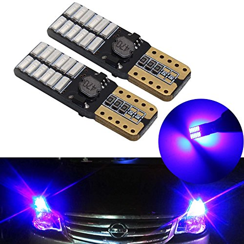 YaaGoo 2 pz blu 168 194 501 cuneo LED lampadine super luminoso bianco per interni auto esterno cupola mappa porta cortesia targa lampadina
