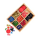 Sharplace Montessori Material: Bunte Wortartensymbole Set( mit Holzbox) -