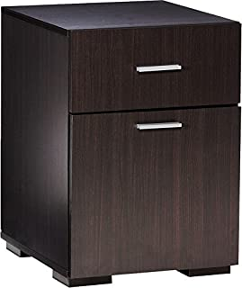 Comfort Products Modern 2 Drawer Cabinet, Espresso