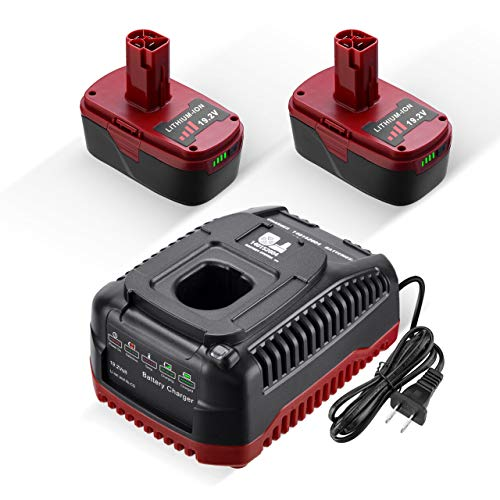 Powerextra 5.0Ah 19.2Volt Replacement for Craftsman C3 XCP + Craftsman 19.2V Charger for 130279005 1323903 130211004