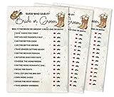 Inkdotpot 50-Pack er sagte, sagte sie Karten für Paare lustig Generalprobe Abendessen Erraten Frage Brautdusche Verlobungs-Party Spielideen Cowgirl