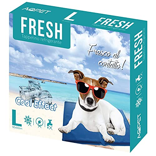 Funhobby Italia Srl Tappetino refrigerante rinfrescante per Cane Gatto Animali Domestici Estate Caldo 90x50cm