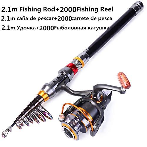1.8-3.6M Telescopic Fishing Rod And 11Bb Fishing Reel Wheel Portable Travel Fishing Rod Spinning Fishing Rod Combo-Yellow-