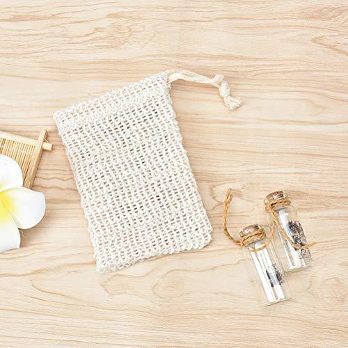 2 stks Foaming Net Soap Bag Massage Handschoenen Baden Exfoliërende Anti-slip Mouw Sisal Body Scrub Handschoen