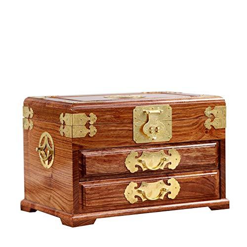 EIU Rozenhout Sieraden Doos Sieraden Doos Effen Hout Chinese Dressoir Rozenhout Hand Sieraden Opbergdoos Bruiloft Gift W12/20