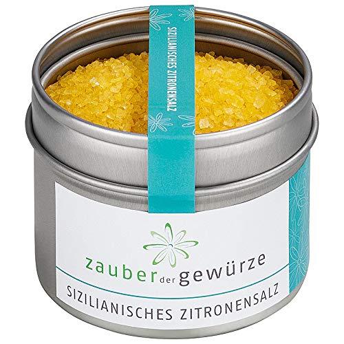 Zauber der Gewürze Sizilianisches Zitronensalz, mit Zitronenöl, Tischsalz, 130g