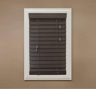 Home Decorators Collection Espresso 2-1/2 in. Premium Faux Wood Blind - 23 in. W x 64 in. L (Actual Size is 22.5 in. W x 64 in. L) (1 Pack)