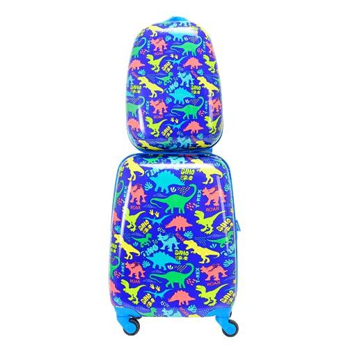 BONTOUR Lot de 2 valises pour enfant - Sac à dos + trolley - Bagages de voyage