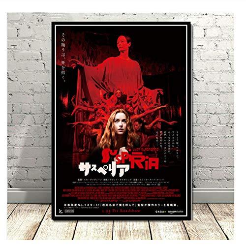nr Suspiria Classic Horror Film Filmplakat Wandkunst Bild Poster und Drucke Leinwand Gemälde für Room Home Decor-50x70cmx2 Kein Rahmen