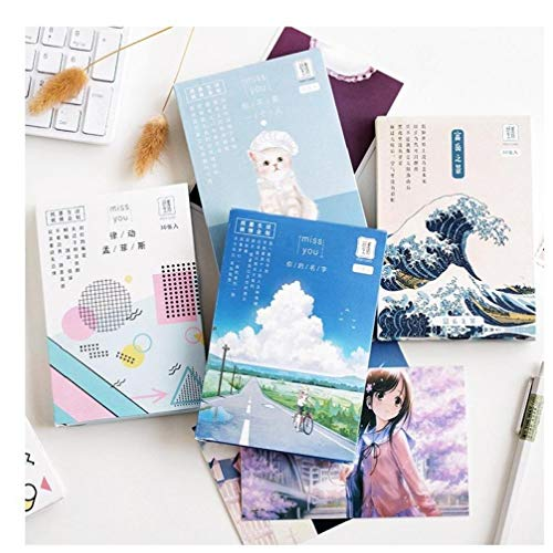 30sheets/Set Anime Your Name Postcard Greeting Card Animals Series Notecards Cardstock Birthday Gift Card Message Card with Box