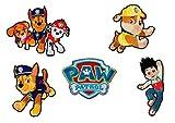 Mono-Quick Paw Patrol, 5er Set Bügelbilder,Kinder,Aufbügler,Aufnäher,Patches,Flicken,Bilder zum Aufbügeln, Polyester, Mehrfarbig, 8cm, 5