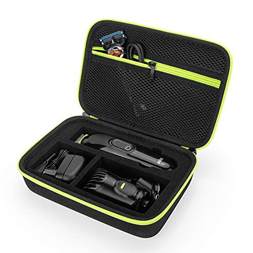 Funda para Braun Multi Grooming Kit todo en uno MGK3221,  MGK7220,  BT3240,  BT7040,  MGK5280 & More cortapelos para hombre,  recortador,  funda protectora (verde)
