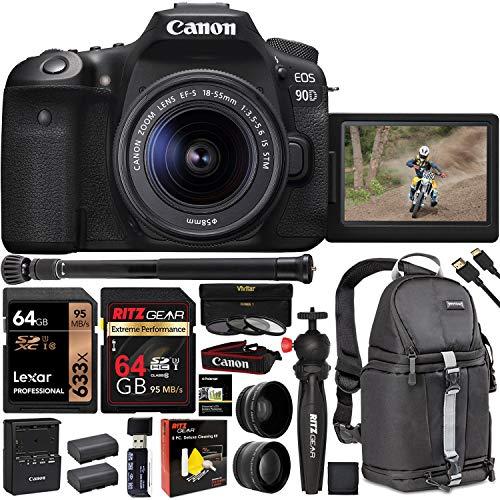 Why Choose Canon EOS 90D DSLR Camera with 18-55mm Lens (3616C009), 4K Video, Vivitar Sling Bag, Lexa...