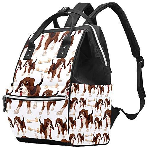 Boxer Dog Travel Rucksack Casual Daypack Maternity Nappy Bag Organizer Nursing Bottle Bag