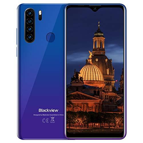 "Teléfono Móvil,Blackview A80Plus Smartphone Android 10 Móvil Libre,4GB+64GB,6.49"" HD+ Water-Drop Screen,4680mAh,13MP+8MP,Dual SIM/NFC/GPS/Face ID"