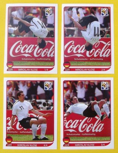 Panini WM 2010 Südafrika - Set Sondersticker Miroslav Klose Salto Coca Cola