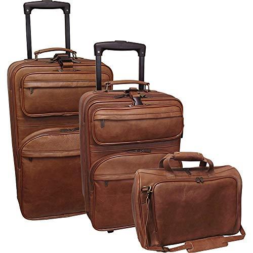 Amerileather Brown Leather Three Piece Set Traveler (#8003-2)
