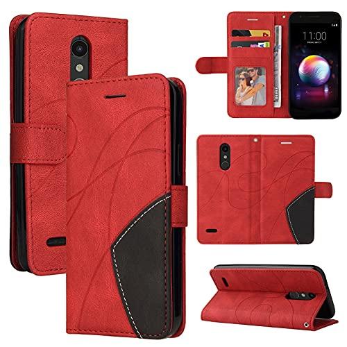Teléfono Flip Funda Para LG K10 2018 (US Versión) Funda de billetera de cuero, soporte de la ranura de tarjetas Flip Funda para teléfono para LG K10 2018 (US VERSIÓN) CASO DE CASO DE MERMENADORES Y MU