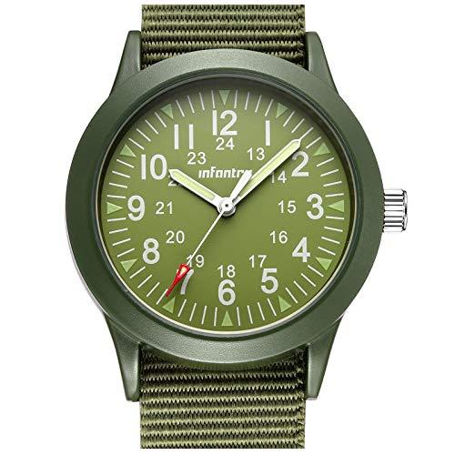Infantry Männeruhr Herren Armbanduhr Männer Uhren Militär Uhr Herrenarmbanduhr Grün Nylonband Outdoor Tactical Watch