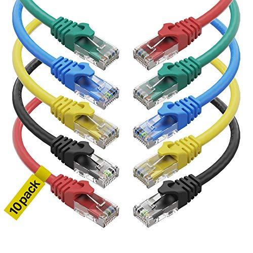 CAT 6 Ethernet Cable (1.5 Feet) LAN, UTP (0.5m) CAT6, RJ45, Network, Patch,...