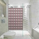 Película de privacidad para ventana, geométrica, abstracta, diagonal, patrón de arte de línea delgada Briti, película de vidrio para el baño de la reunión de la casa, 23.6 x 47.2 pulgadas
