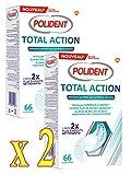 Polident - GSK Total Action - Nettoyant pour Appareils ou Prothèses dentaires - Lot de 2 Boites de 66 Comprimés (2)