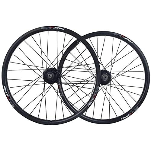 HJXX 20 Zoll BMX Fahrradfelge, Fahrrad Laufradsatz, Fahrrad Räder Hinterrad Vorderrad, Fahrrad Radsatz, Double Layer Alufelge Scheibenbremse Schnelle Veröffentlichung 7 8 9 10 Geschwindigkeit 32H