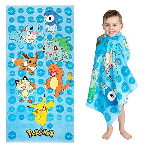 "Franco Kids Super Soft Cotton Beach Towel, 28"" x 58"", Pokemon"