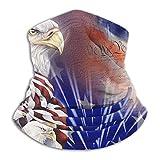 Cuello Bufanda Para Hombre Mujer,Bandera Americana Del Águila Del Día De La Independencia Bufanda Protección Uv Pañuelo De Cabeza Microfibra Sombreros Customed Cuello Pañuelo Para Motocicleta Yoga